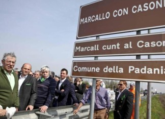 marcallo cartello dialetto umberto bossi