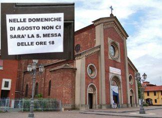 parroco casorezzo abolisce messa ad agosto