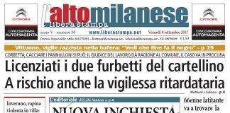 prima pagina libera stampa l'altomilanese 8 settembre 2017 anteprima notizie