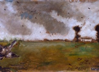 Paesaggio con passero e casolare Filippo De Pisis Fondazione Cariplo