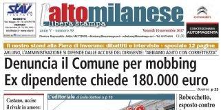 prima pagina 10 novembre 2017 libera stampa l'altomilanese