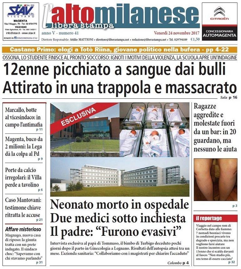 prima pagina 24 novembre 2017 anteprima notizie