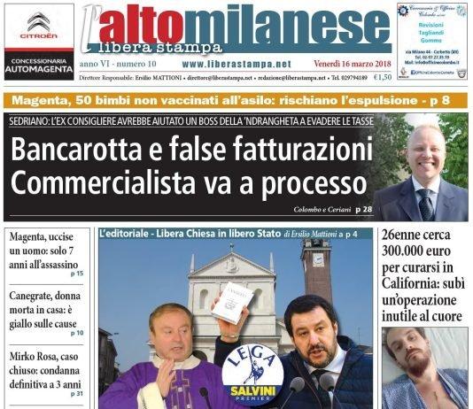 prima-pagina-altomilanese-16-marzo-2018