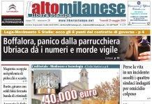 prima-pagina-altomilanese-25-maggio-2018